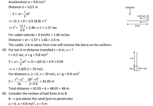 HC Verma : Concept Of Physics Chapter 3 : Rest and Motion Kinematics Solution PDF 12