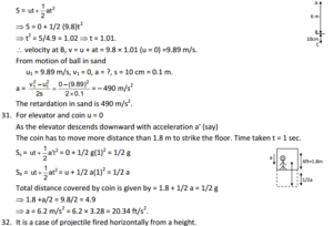 HC Verma : Concept Of Physics Chapter 3 : Rest and Motion Kinematics Solution PDF 13