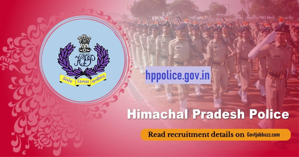 1063 HP Police Constable Bharti 2019 : recruitment.hppolice.gov.in 1