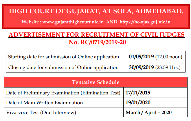 gujarat highcourt civil judge job