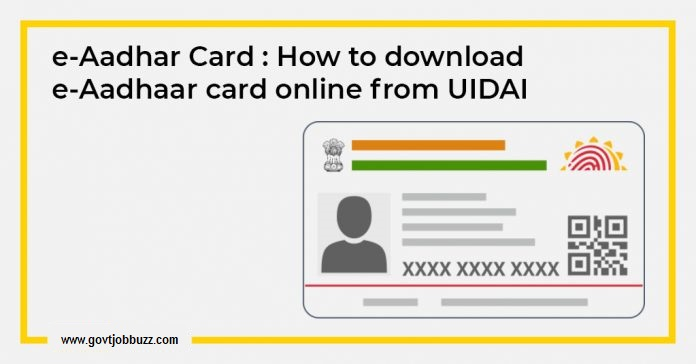 aadhaar card without otp