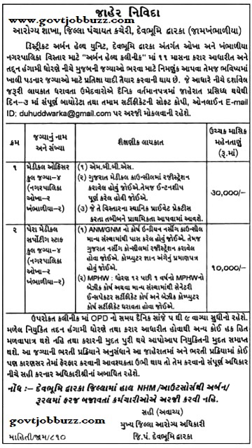 Dwarka Recruitment