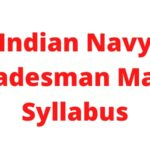Indian Navy Tradesman Mate Syllabus 2021: Navy Group – C Exam pattern 2