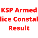 KSP Armed Police Constable Result 2021: Cutoff marks and merit list 7